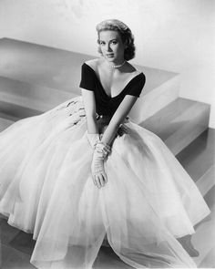 "Grace Kelly,exquisite, in the sheer gown designed by Edith Head for the movie ""Rear Window"" 1954"