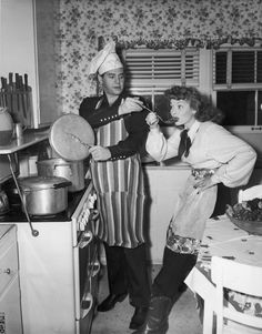 Desi Arnaz and Lucille Ball in 1945