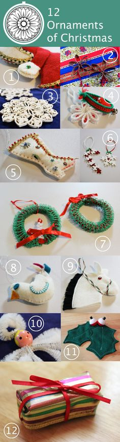 Twelve Ornaments of Christmas | HandsOccupied.com twelv ornament, christma craft, christmas ornaments, christma ornament