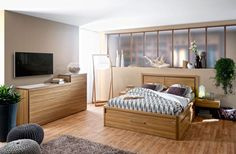 Talmont new Gautier bedroom. Collection made in France by Gautier. All details and products : www.gautier.co.uk... Collection Talmont | Gautier #furniture #bedroom #talmont #nature #wood #gautier