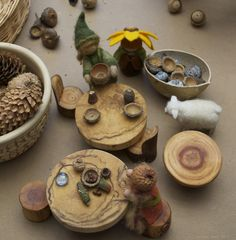 MAKING GNOME and FAIRY DISHES FROM SEED PODS- tutorial