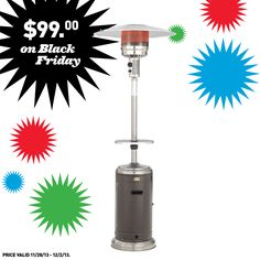 Add this patio heater to your Black Friday shopping list.