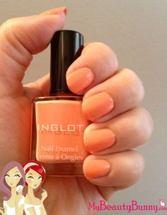 orange / coral Inglot nail polish