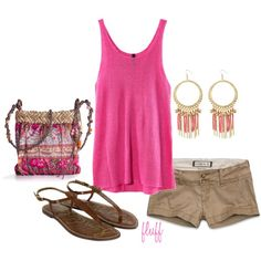 pink, created by fluffof5 on Polyvore