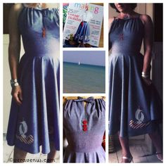 Free pattern for both the sailboat circle skirt and the sundress bodice pattern in two different styles from SewVeraVenus