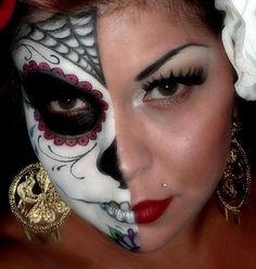 Halloween makeup ideas, Life meets Death , Adult Costumes