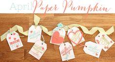 April Paper Pumpkin pumpkin idea, paperpumpkin, tag banner, pumpkin stampin, pumpkin kit, 2014 paper, paper pumpkin, april paper