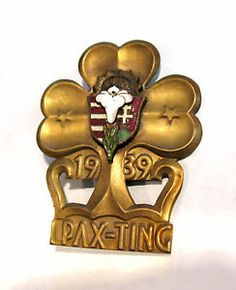 PAX TING 1939 Girl Scouts Guides PIN BADGE International Thinking Day VERY RARE   eBay