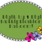 Free two digit by one digit multiplication Kaboom!
