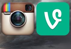 The evolution of design trends captured in an Instagram vs Vine comparison. Skeuomorphism vs flat.