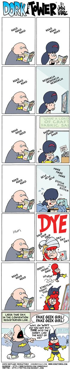Best response I've seen to artist Tony Harris bizarre anti fangirl rant - Dork Tower!