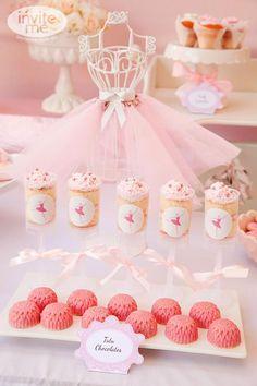 desserts, dessert tables, birthday parties, party themes, cake push pops, parti idea, ballerina birthday, themed parties, ballerina party