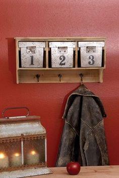 Wood Metal Wall Shelf