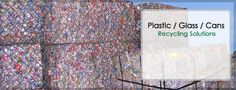 Plastic, glass, and can recycling solutions