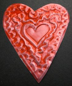 How to Make an Embossed Metal Heart for a Valentine's Day Card (Mexican Tin Art) | Anjie's Blog