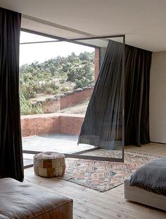 Villa E / Studio Ko studio ko, the doors, glass doors, window, villa, fitness studio design, contemporary houses, curtain rails, bedroom curtains