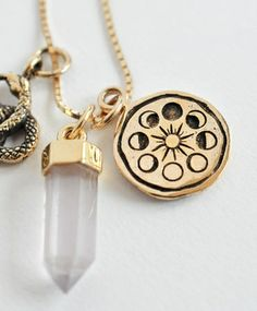 Gold Ceremony Necklace by MANIAMANIA stone