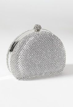 Full Rhinestone Half Moon Handbag from Camille La Vie and Group USA prom clutch