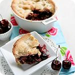 Classic all-American Cherry Pie. Think American diners with a glass of malt milkshake and a wonderful cherry pie.