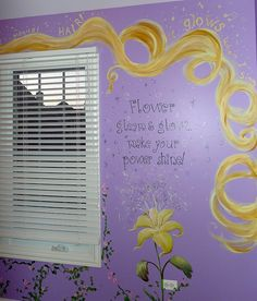 Princess Rapunzel Mural I think it would be so cool if the hair had glow in the dark pain in it :)