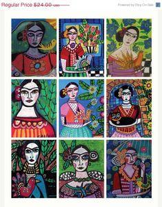 Mexican Folk Art Frida by HeatherGallerArt