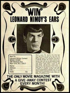 Win Leonard Nimoy's Ears