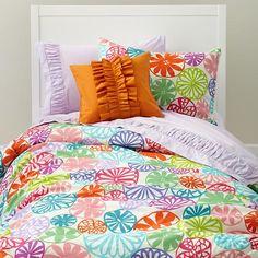 kids rooms decor, bedroom makeovers, kid rooms, big girl rooms, kids bedding, duvet cover, throw pillows, big girls, summer colors