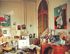 picasso's studio, la california, in the south of france