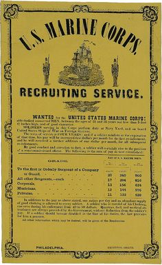 Civil War Recruiting Poster by United States Marine Corps Official Page, via Flickr