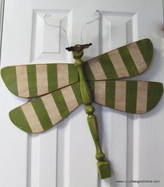 Table Leg Dragonfly Wall Art- green stripe. From LucyDesignsonline etsy shop