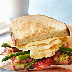 Breakfast or dinner, you'll love a flavorful Avocado and Asparagus Egg Sandwich! Get the full recipe here:   http://www.bhg.com/recipes/seasonal/heart-healthy-recipes-from-the-farmers-market/?socsrc=bhgpin091014avocadoasparaguseggsandwiches&page=4