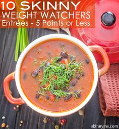 10 Skinny Weight Watchers Entrees with 5 Points or Less with previous points and points plus! #ww #weightwatchers #pointsplus