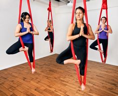 We love Aerial Yoga. Have you every tried it?