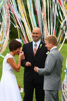 ribbons at the alter