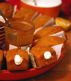 "Pumpkin mini loaves ""twinkies"" with meyer lemon filling"