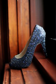 If they were a midnight blue then perfect wedding shoes
