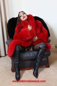 Super Soft Red Fox Fur Coat I Need Fur...  www.fetishmistressuk.com dy fur, fox fur, leather boots, colour fur, fav fur, foxes, big red, coats, red fox