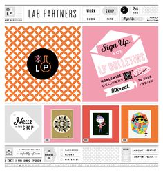 Organized and tasteful Lab Partners site design