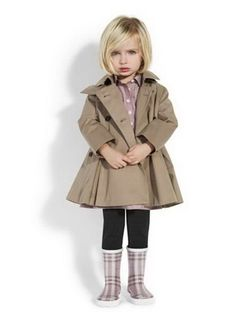 .....little Burberry - love this little pea/trench coat for Sophia.