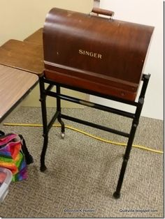 Singer 99 in the vintage type table.....need to find one of these!