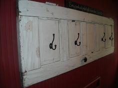 Old door coat rack