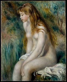 """""""Young Girl Bathing"""" by Renoir, 1892"""