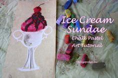 Ice Cream Sundae Chalk Pastel Art Tutorial at www.hodgepodge.me