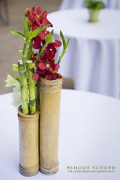 Floral bamboo centerpiece