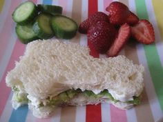 Cookie cutters are a great way to add fun to sandwiches - Avocado and Cream Cheese Sammie Recipe