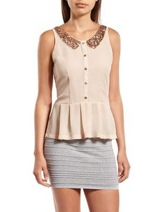 Contrasting Collar: Charlotte Russe