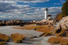Lighthouse on Cape Ann, MA