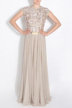 Silver Bead Top Gown