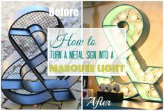 How to turn a metal sign into a marquee light