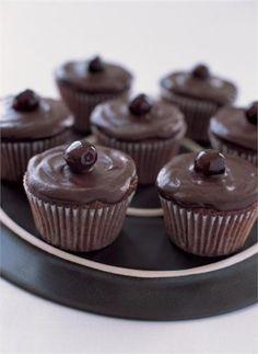 Chocolate Cherry Cupcakes by   Nigella Lawson